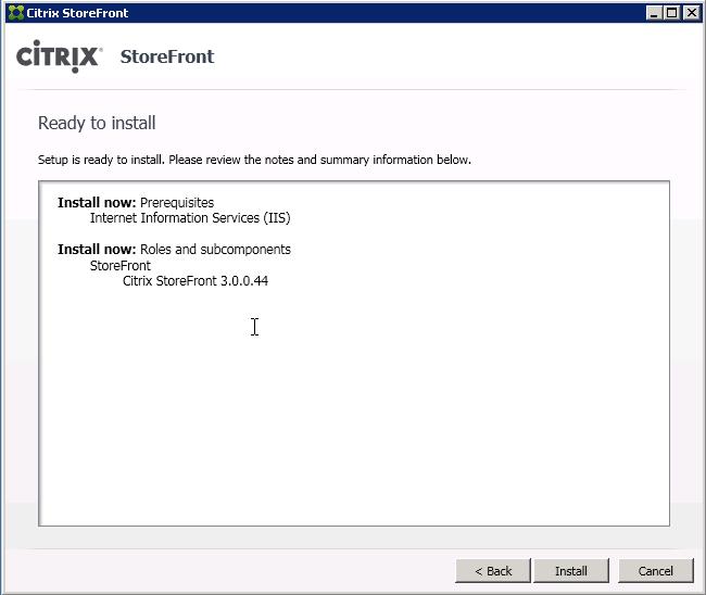 Citrix Installation Manager Installation Failed 1603