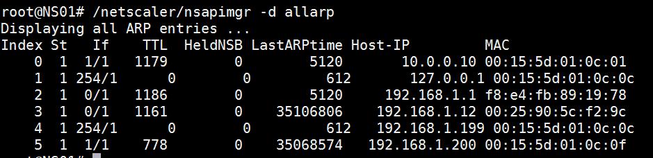 Show ARP Table Lab: Part 6 – Configure NetScaler 11 High Availability (HA Pair) Lab: Part 6 – Configure NetScaler 11 High Availability (HA Pair) CitrixGuru Lab Capture 98 1442279272