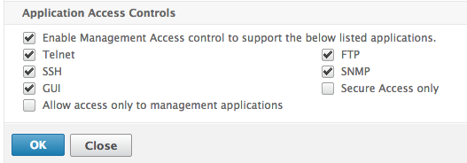 Enable management access