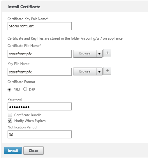 Import StoreFront certificate Lab: Part 16 – StoreFront load balancing with NetScaler (Internal) Lab: Part 16 – StoreFront load balancing with NetScaler (Internal) CitrixGuru Lab Capture 293 1449112481
