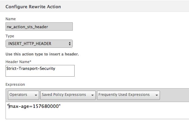 Create rewrite action