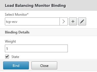 Select TCP ECV monitor