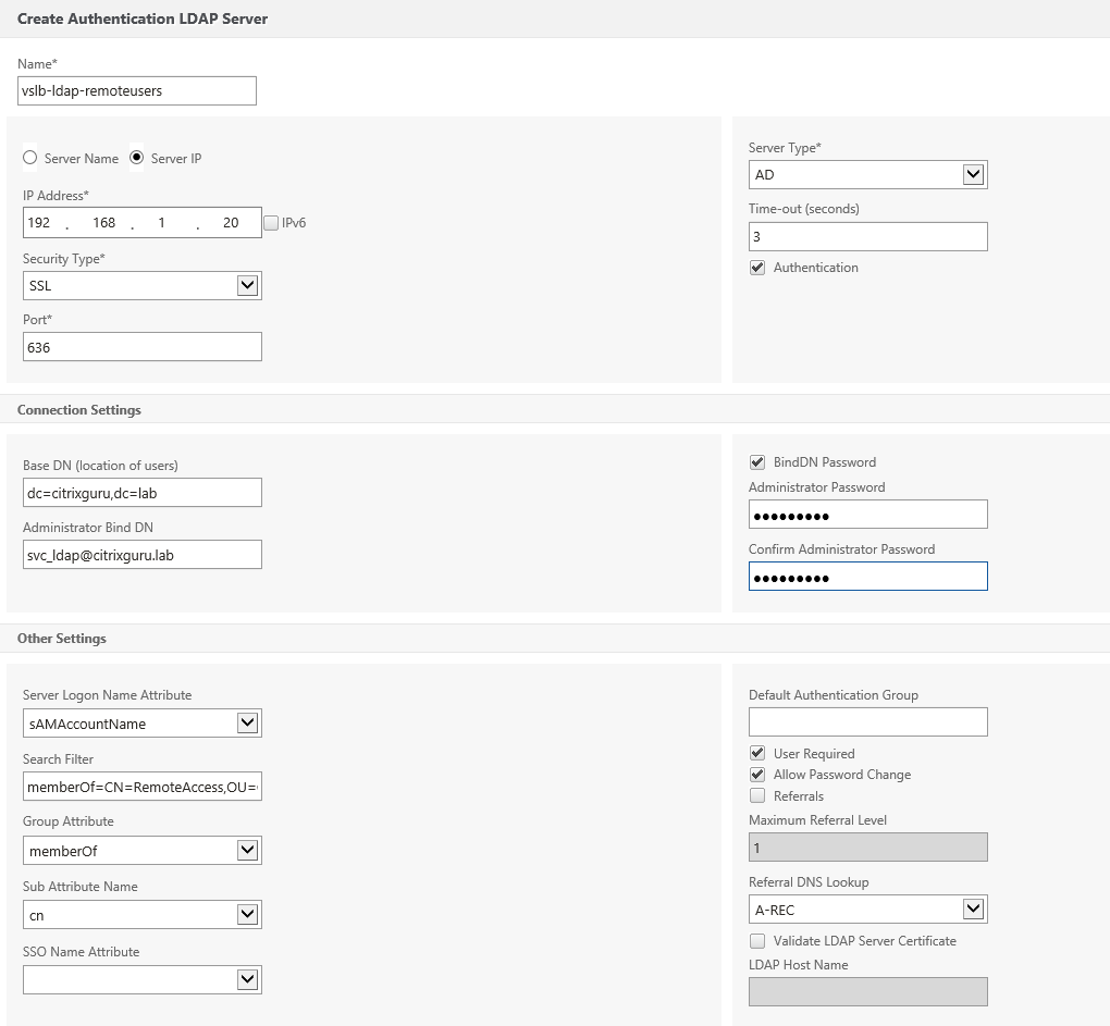 Create LDAP server for users