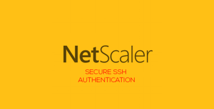 Secure SSH Authentication with NetScaler