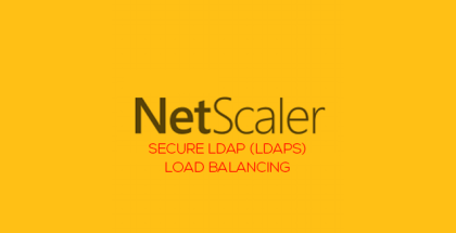 LDAP Loab balancing with NetScaler 11