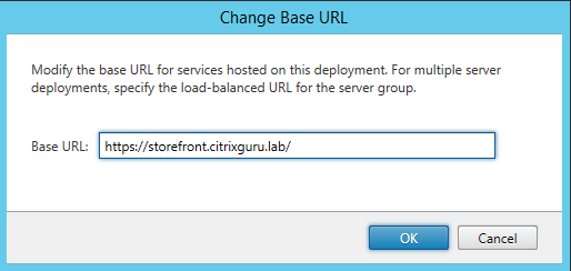 Configure Base URL Citrix StoreFront 3.5 Overview Citrix StoreFront 3.5 Overview CitrixGuru Lab Capture 469 1456629022