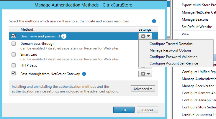 Configure Authentication methods 02 Citrix StoreFront 3.5 Overview Citrix StoreFront 3.5 Overview CitrixGuru Lab Capture 474 1456629355