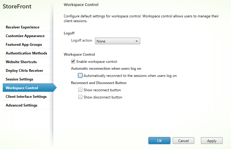 Workplace control Citrix StoreFront 3.5 Overview Citrix StoreFront 3.5 Overview CitrixGuru Lab Capture 486 1456629623
