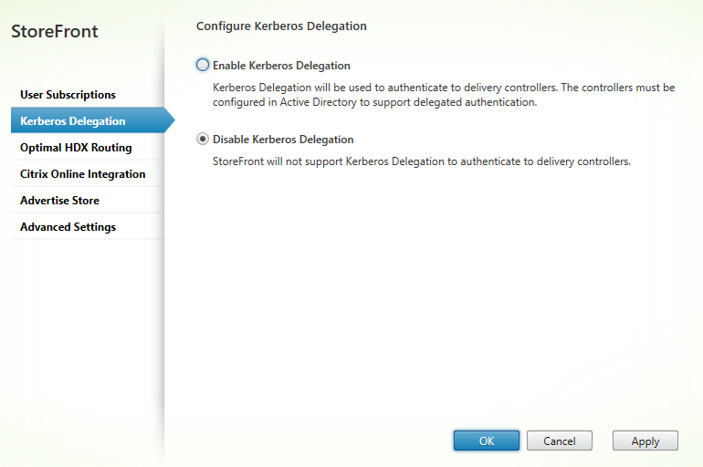 Kerberos delegation Citrix StoreFront 3.5 Overview Citrix StoreFront 3.5 Overview CitrixGuru Lab Capture 493 1456629741