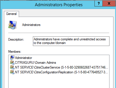 Admins group Citrix StoreFront 3.5 Overview Citrix StoreFront 3.5 Overview CitrixGuru Lab Capture 520 1456687952