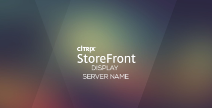 StoreFront display server name