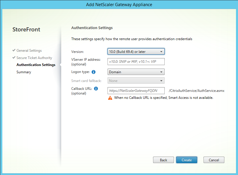 Select Create to finish lab: part 23 - securing citrix storefront dmz deployment Lab: Part 23 - Securing Citrix StoreFront DMZ deployment CitrixGuru Lab Capture 709 1465624367