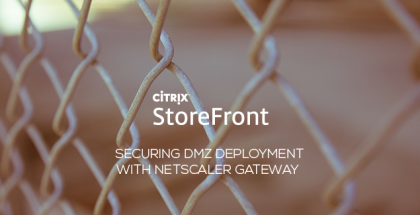 Securing StoreFront DMZ Deployment