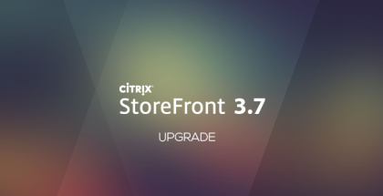 Upgrade to StoreFront 3.7