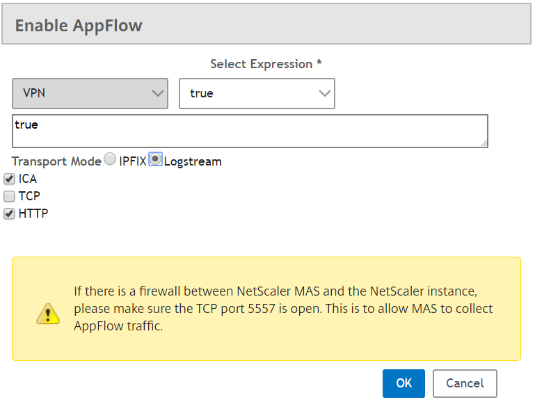 Citrix Management and Analytics Service - Enable APP FLOW 2