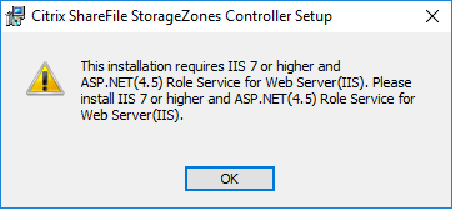 Citrix ShareFile StorageZones Controller requirements