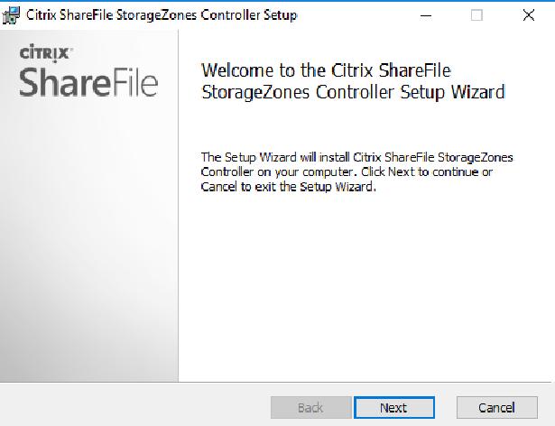 Citrix ShareFile StorageZones Controller setup 01