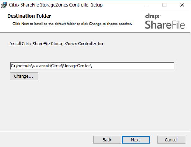 Citrix ShareFile StorageZones Controller setup 02