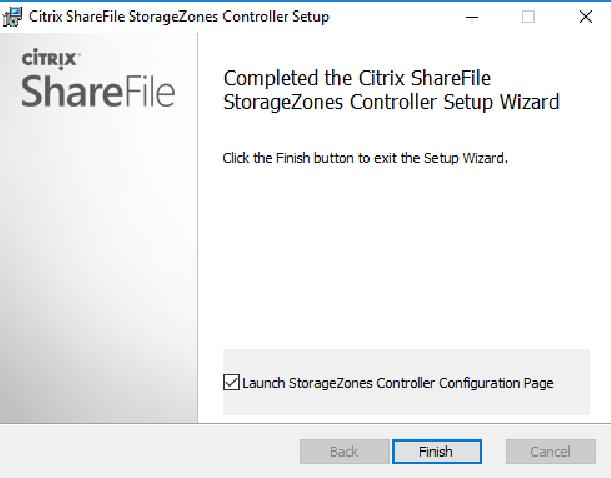 Citrix ShareFile StorageZones Controller setup 03