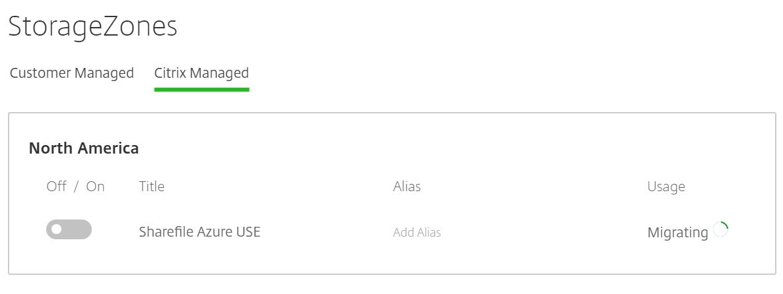 ShareFile - Disable Citrix managed StorageZone