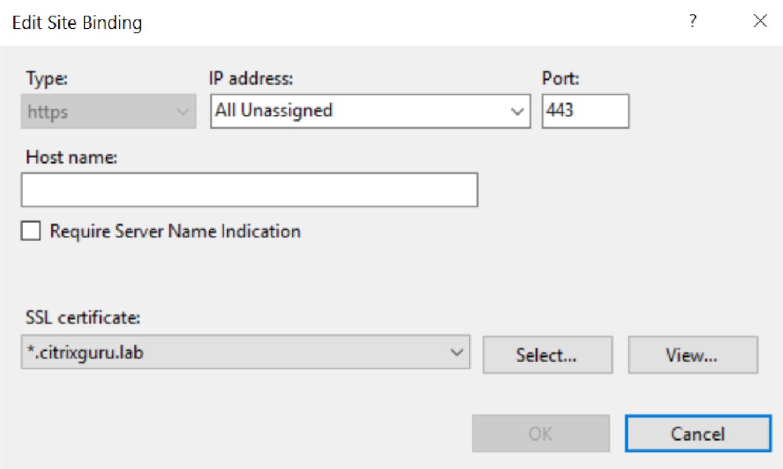 Citrix ShareFile StorageZones Controller - Secure with SSL