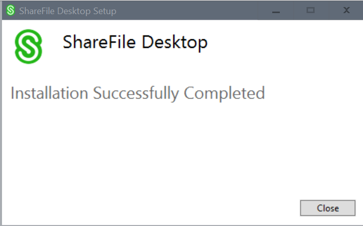 ShareFile Desktop App - Install 2