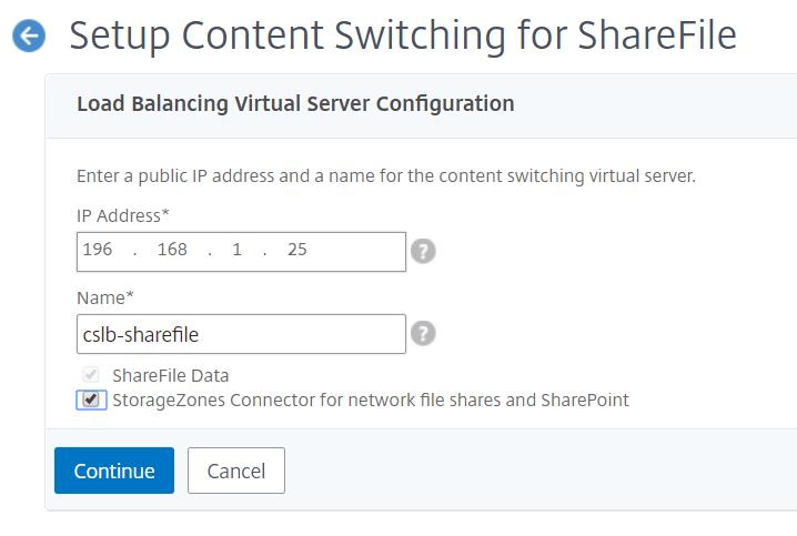 NetScaler for ShareFile - Setup Content Switching Virtual Server