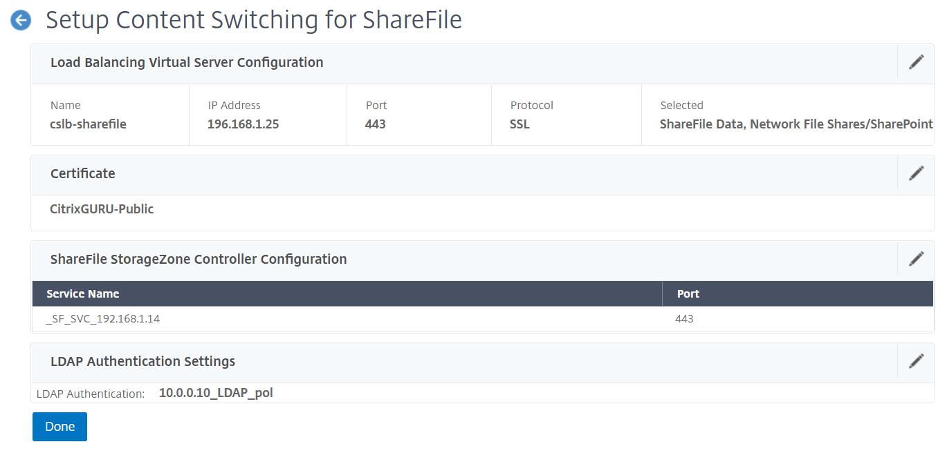 NetScaler for ShareFile - Configured
