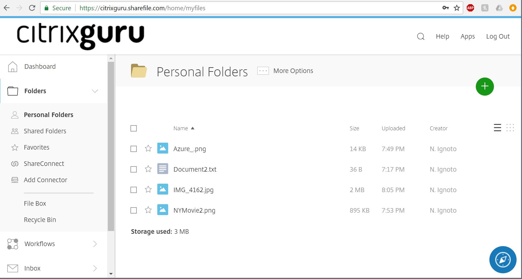 ShareFile Web App