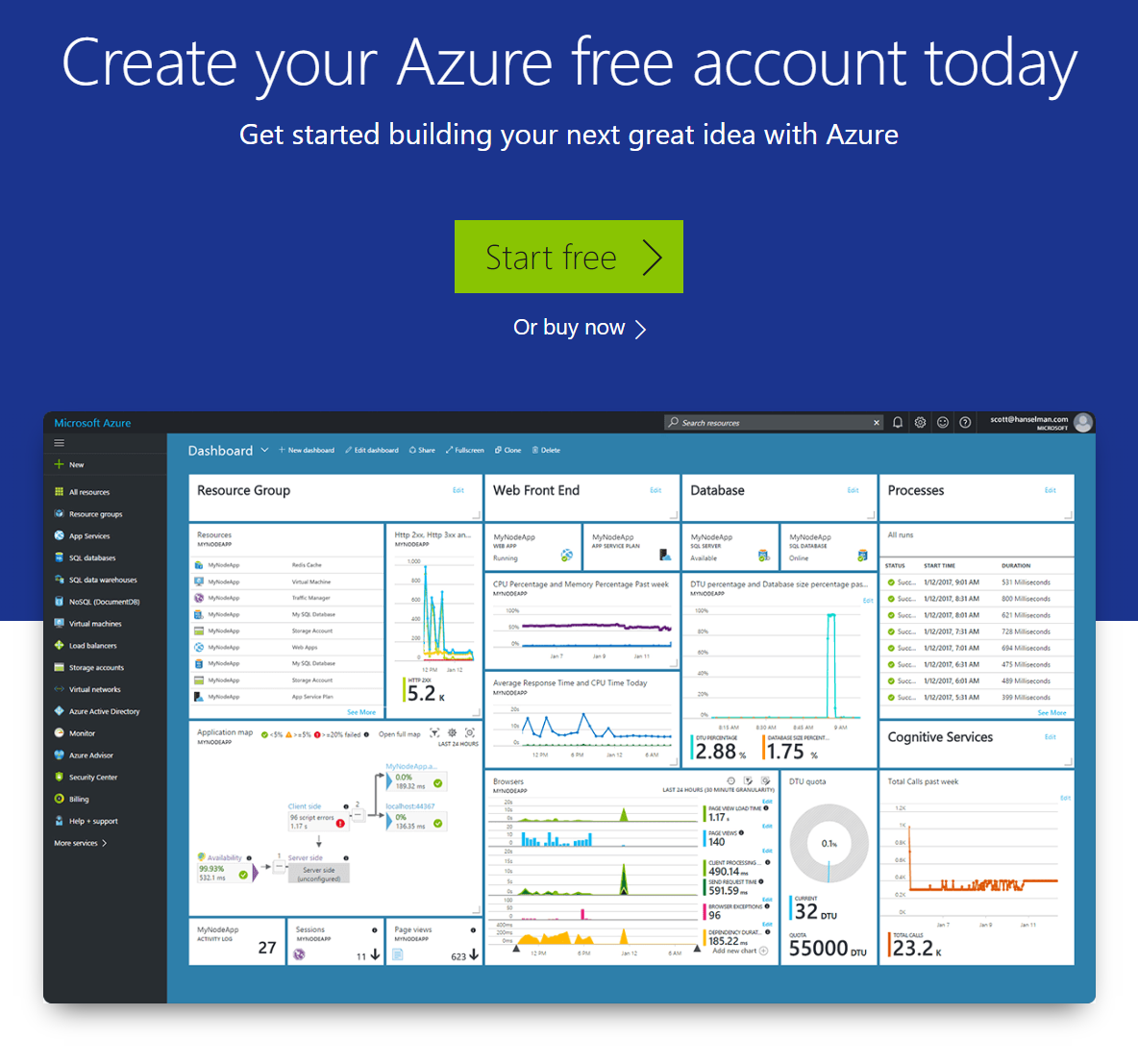 Start Free Azure