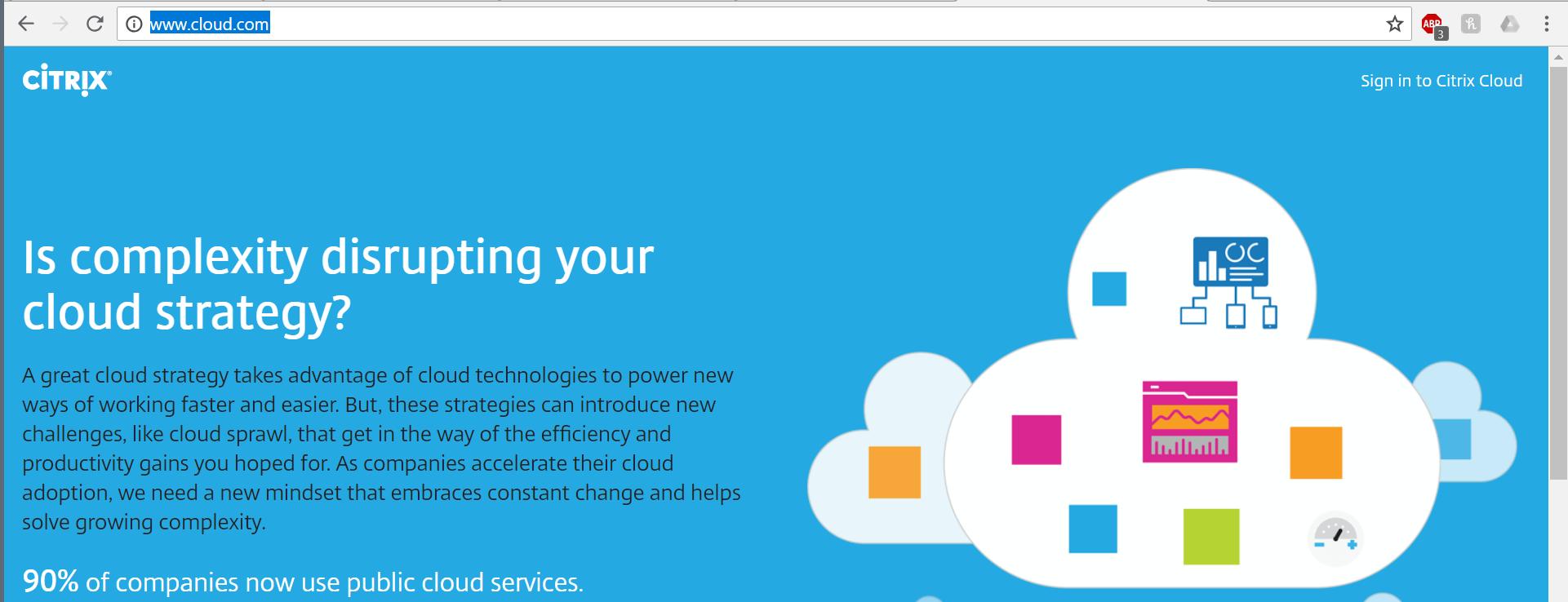 Citrix Cloud portal