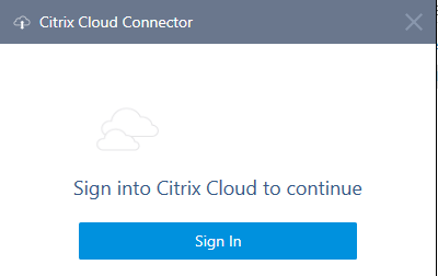 Login to Citrix Cloud within Citrix Cloud Connector