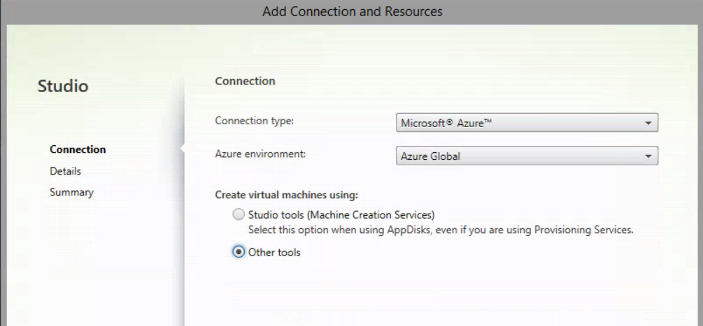 Add Connection and Resources - XenApp and XenDesktop Service on Citrix Cloud