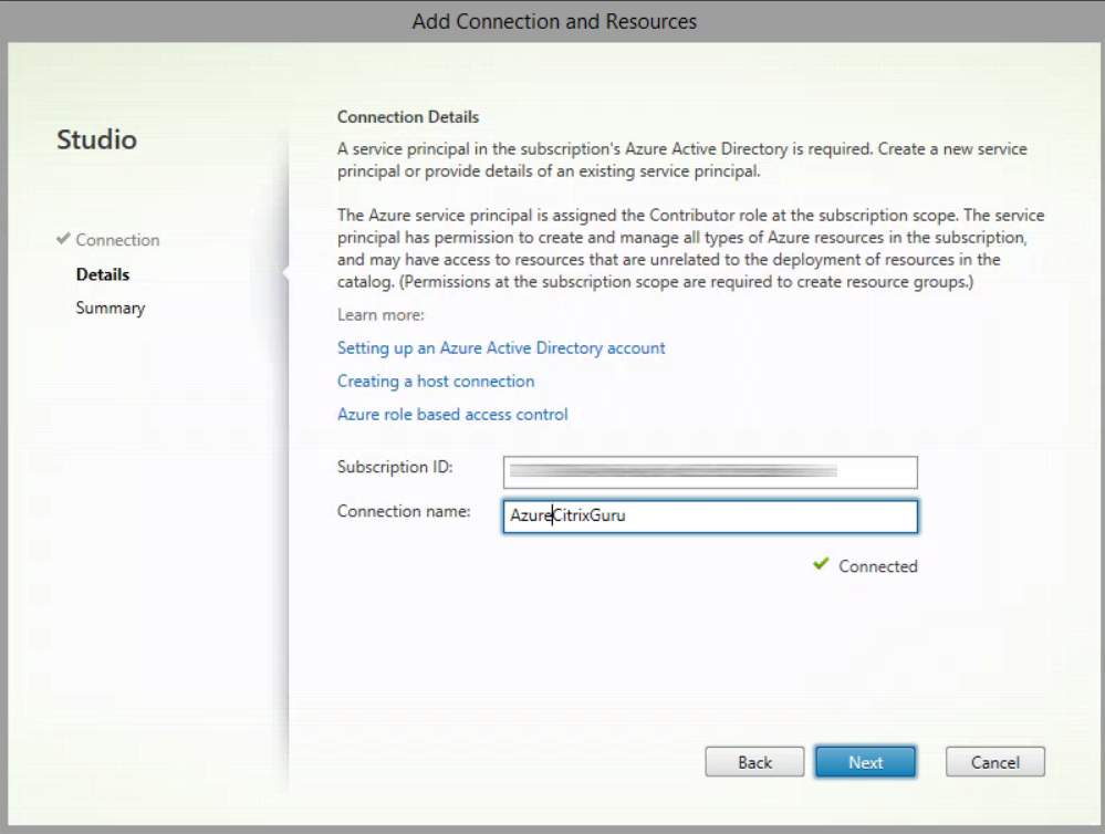 Copy your Azure subscription ID