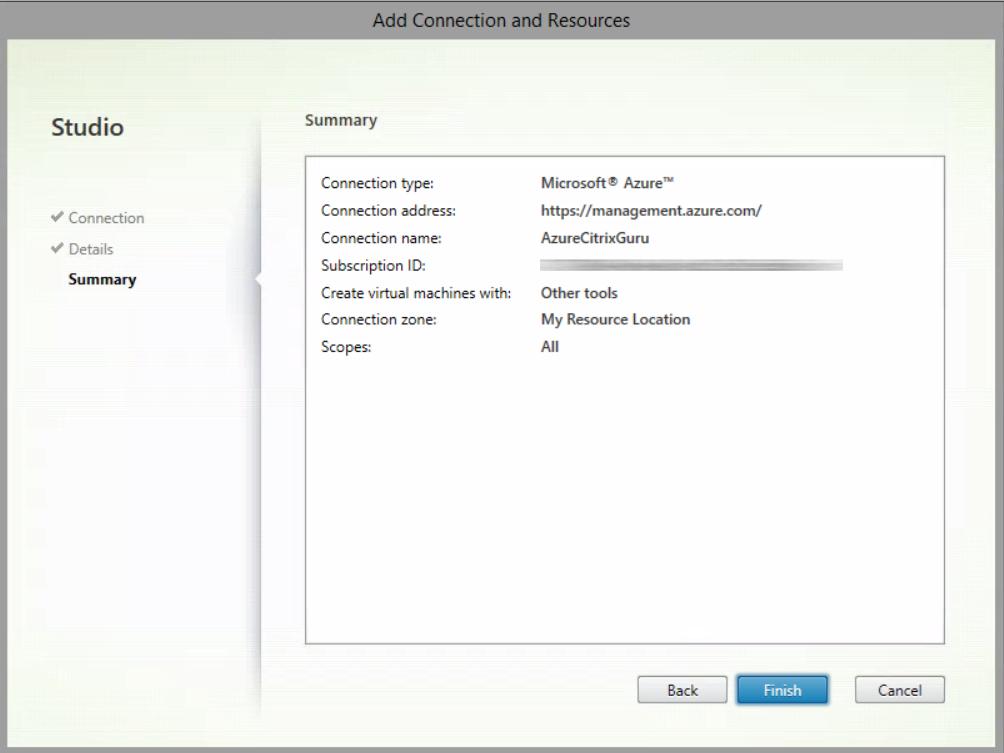Azure + XenDesktop Service Summary