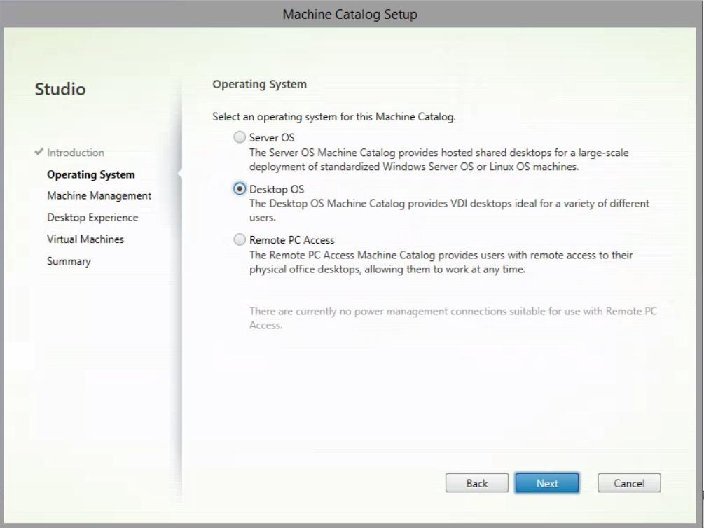 XenDesktop Service - Create Machine Catalog Part 2