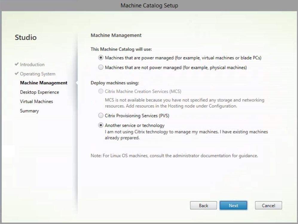 XenDesktop Service - Create Machine Catalog Part 3
