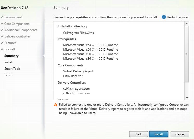 Install VDA on Azure Windows 10 VM - Part 6