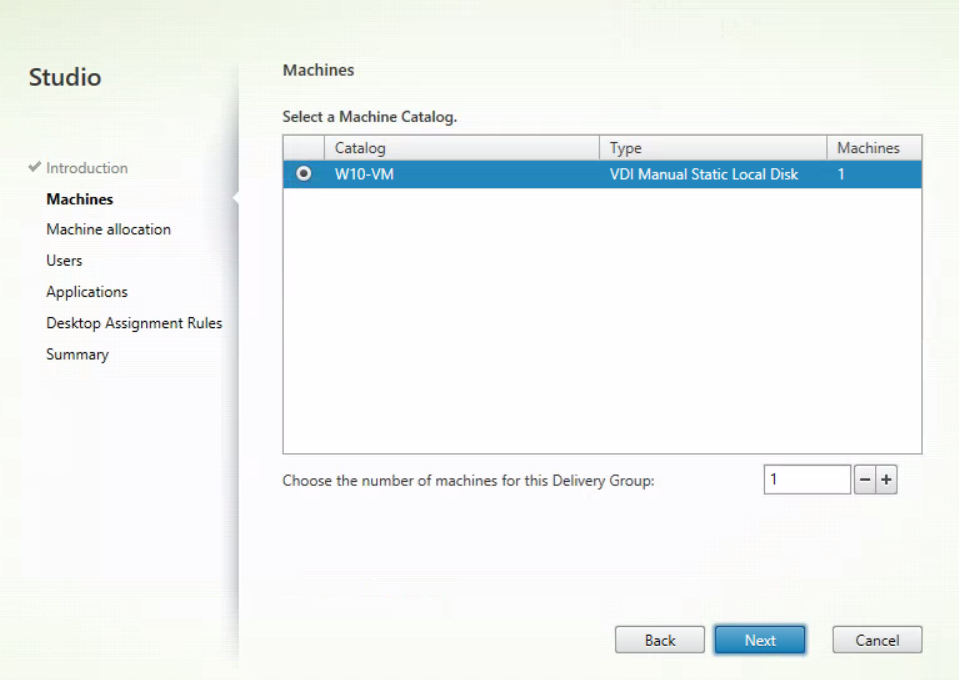 XenApp and XenDesktop Service - Create Delivery Group 2