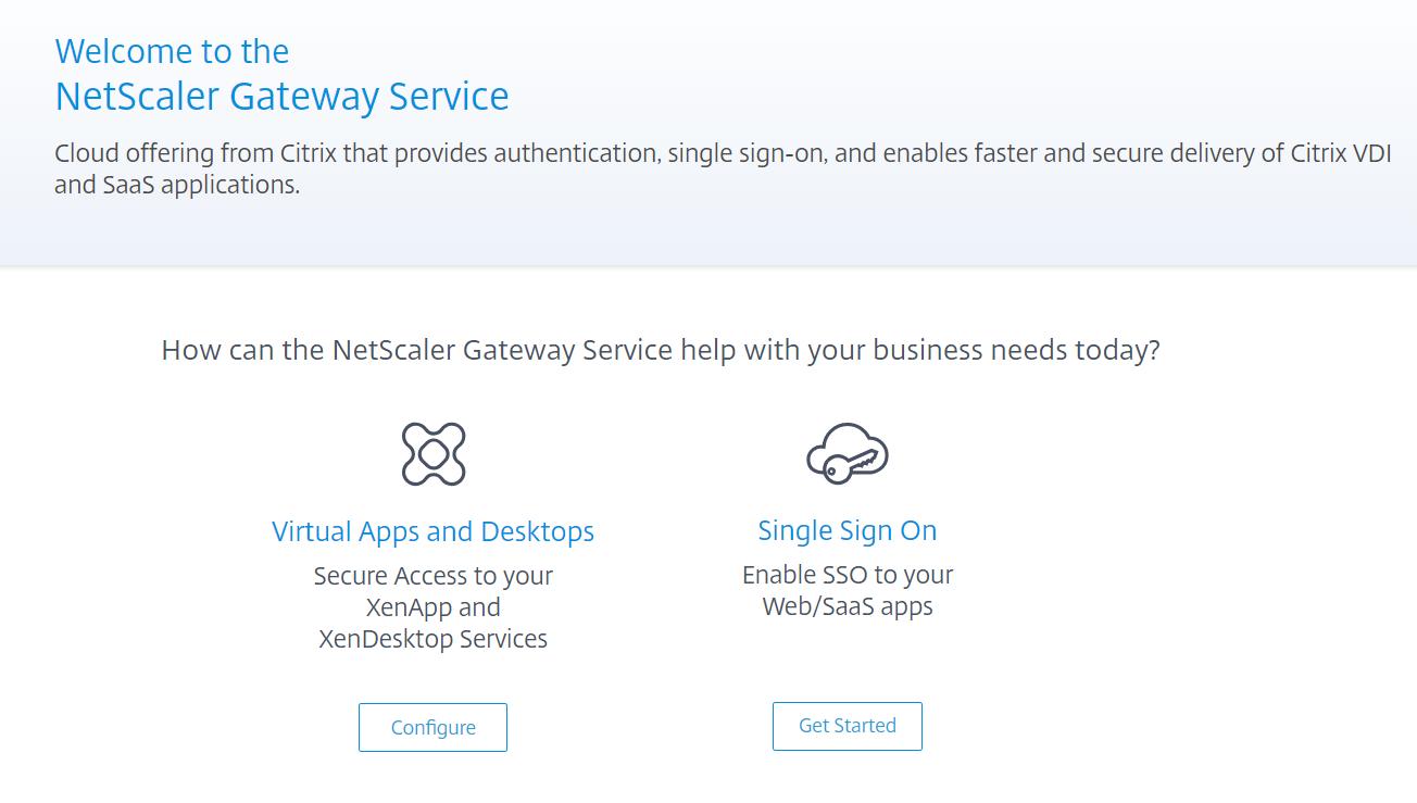 NetScaler Gateway Service in Citrix Cloud