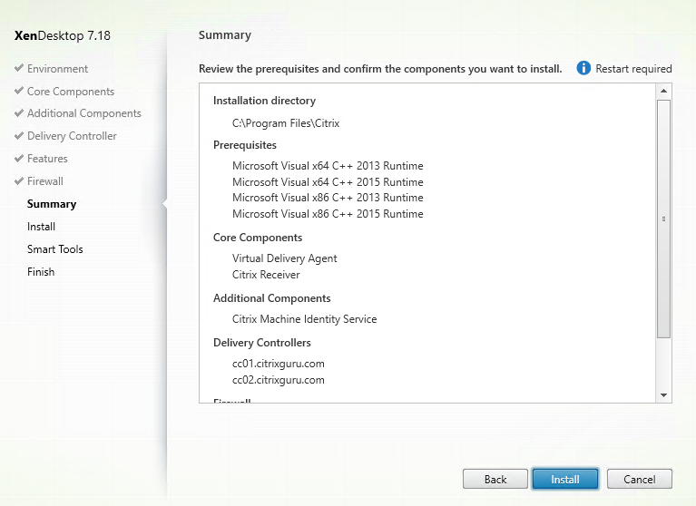 Install VDA for MCS on Windows 10 Master 7