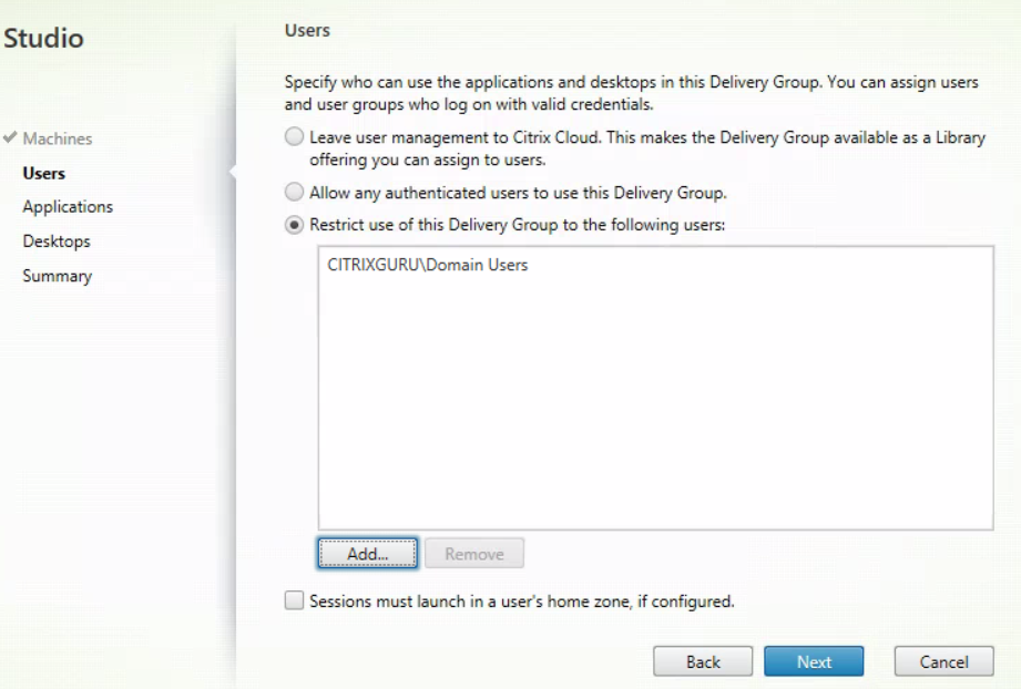 XenDesktop And XenApp Service for MCS - Create new MCS delivery group 2