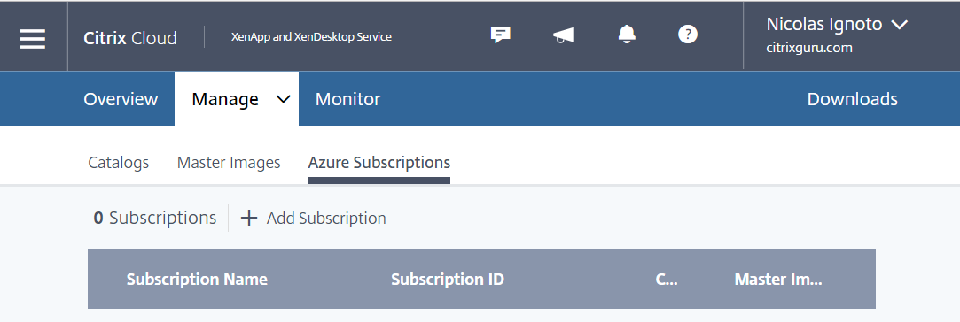Configure Azure Quick Deploy in Citrix Cloud 2