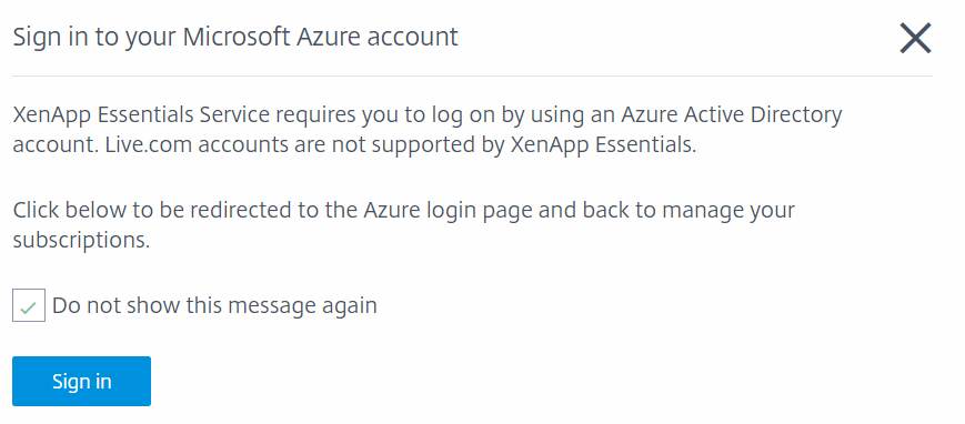 Configure Azure Quick Deploy in Citrix Cloud 3