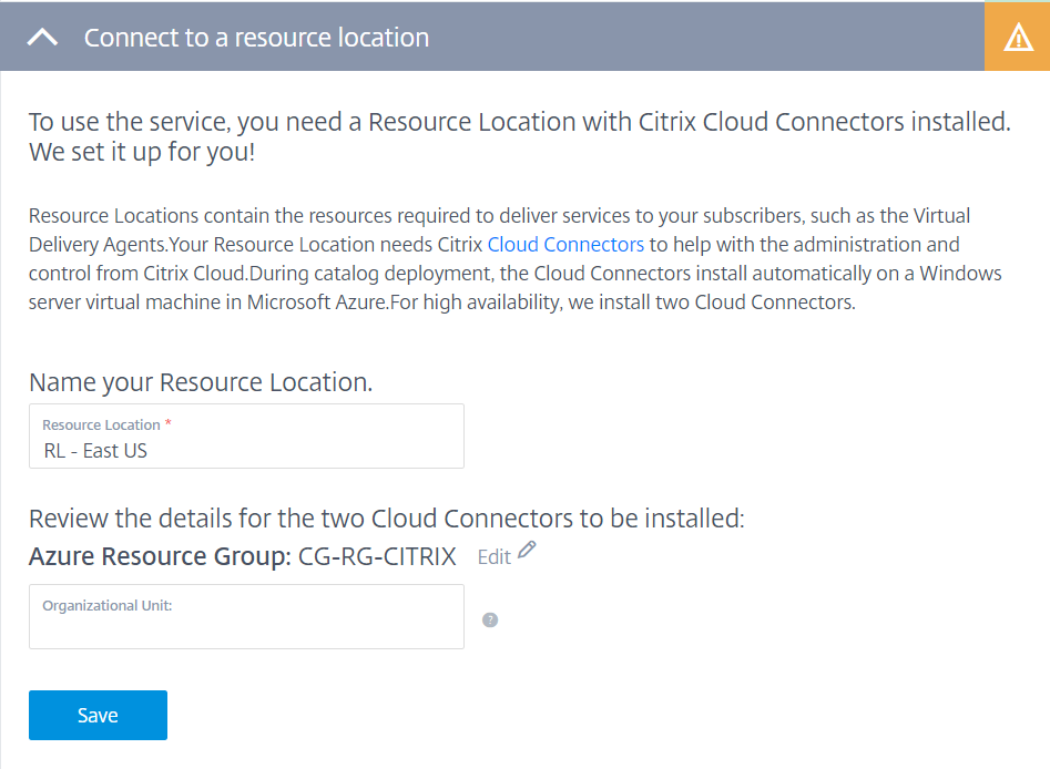 Configure Azure Quick Deploy in Citrix Cloud 10