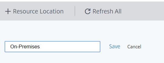 Configure Site Aggregation - new resource location