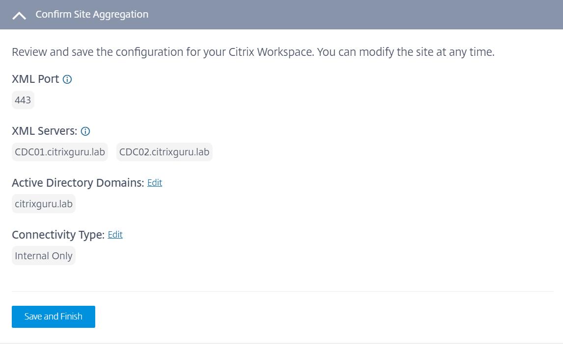 Site Aggregation - configure no gateway for local usage