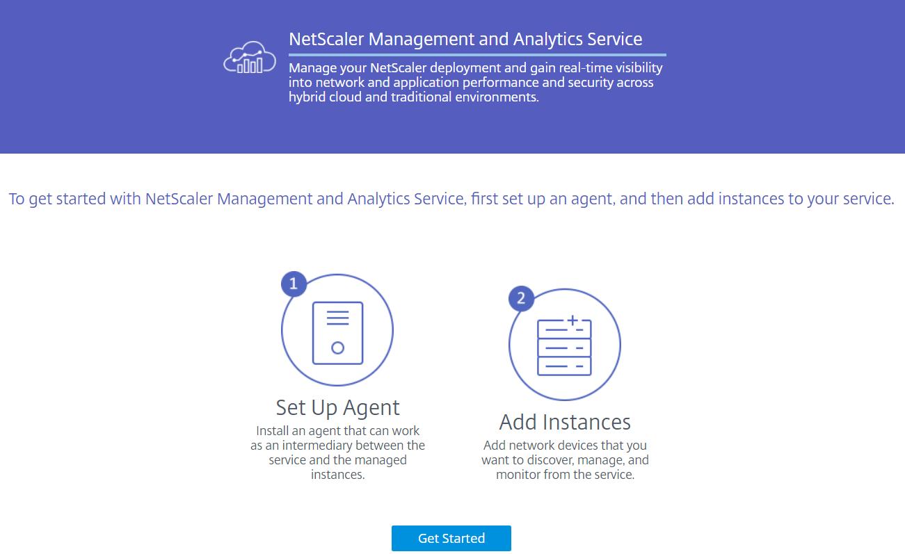 Citrix Management and Analytics Service - Get Started