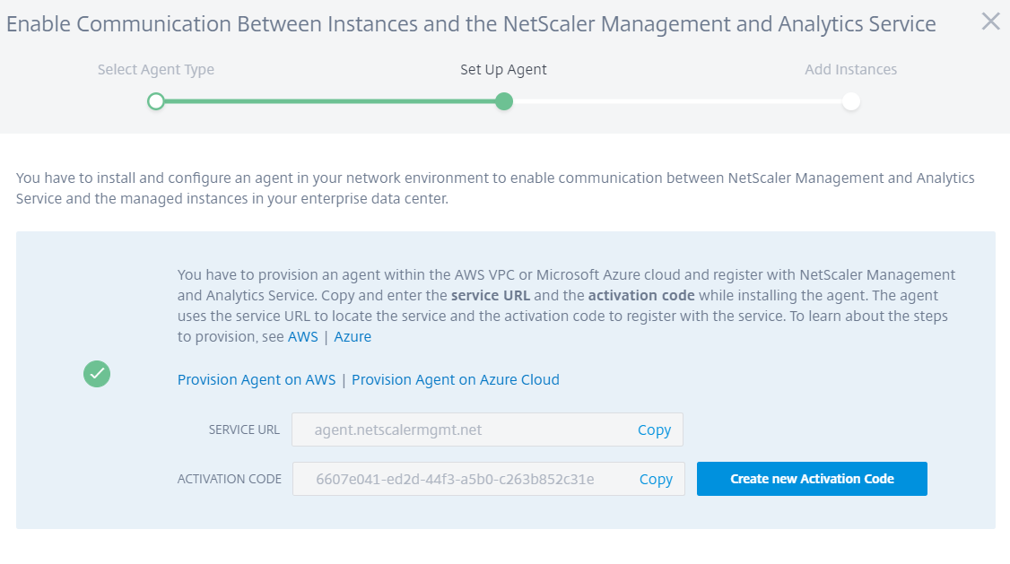 Citrix Management and Analytics Service - Azure or AWS provisioning