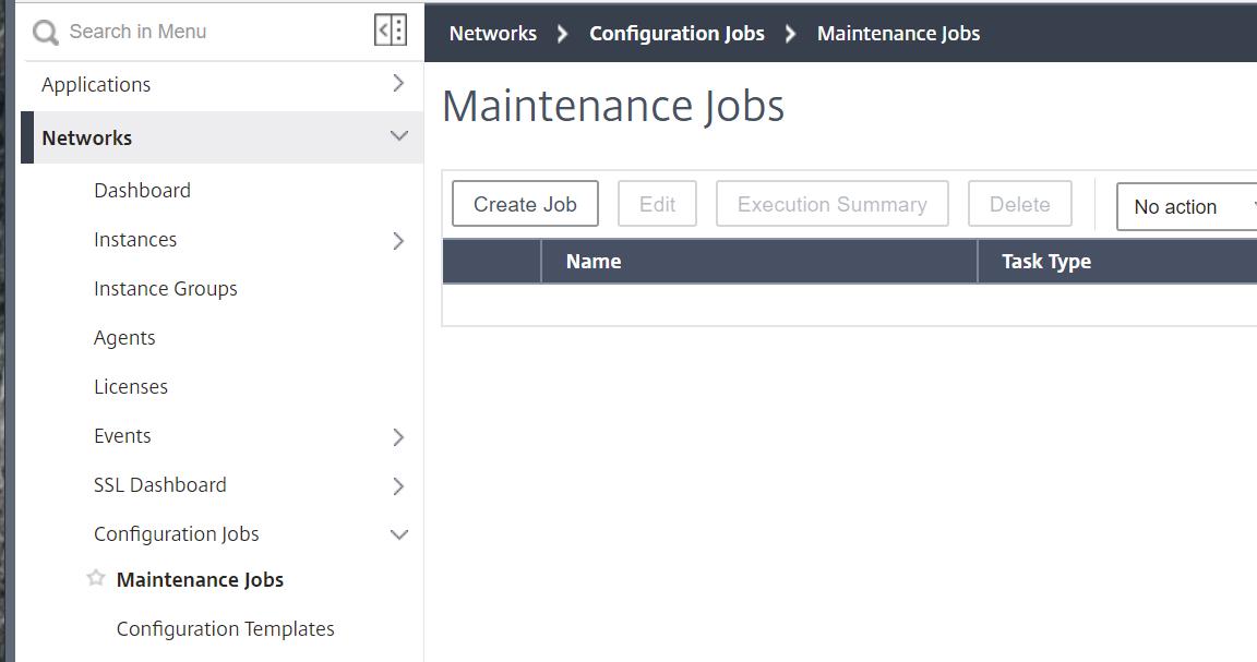 Maintenance Jobs in NetScaler MA Service